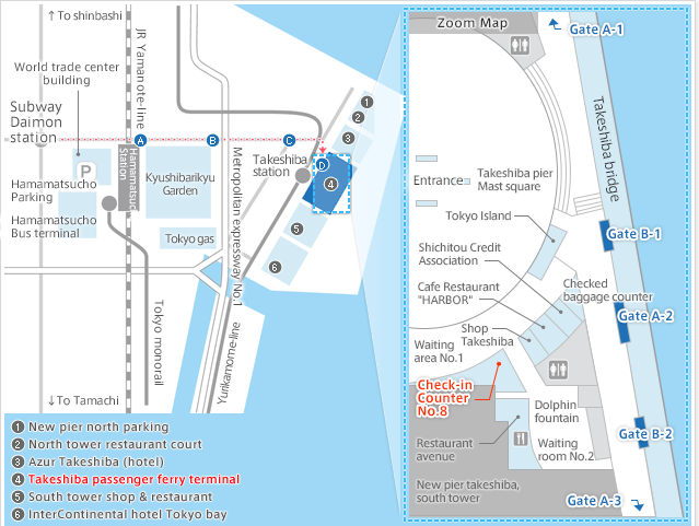Boarding Area Guide Map